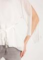 Rue V Yaka Belden Bağlamalı Bluz Beyaz